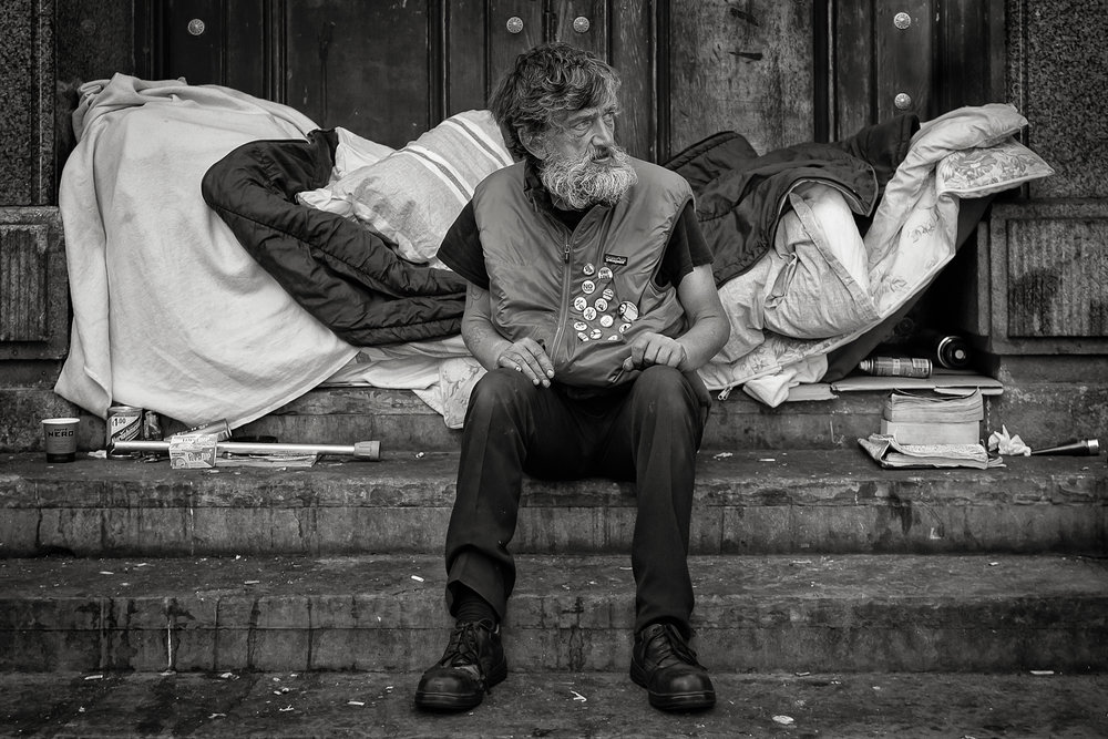 'Michael's Room'...  Love this strong image of a homeless person shot in Liverpool...