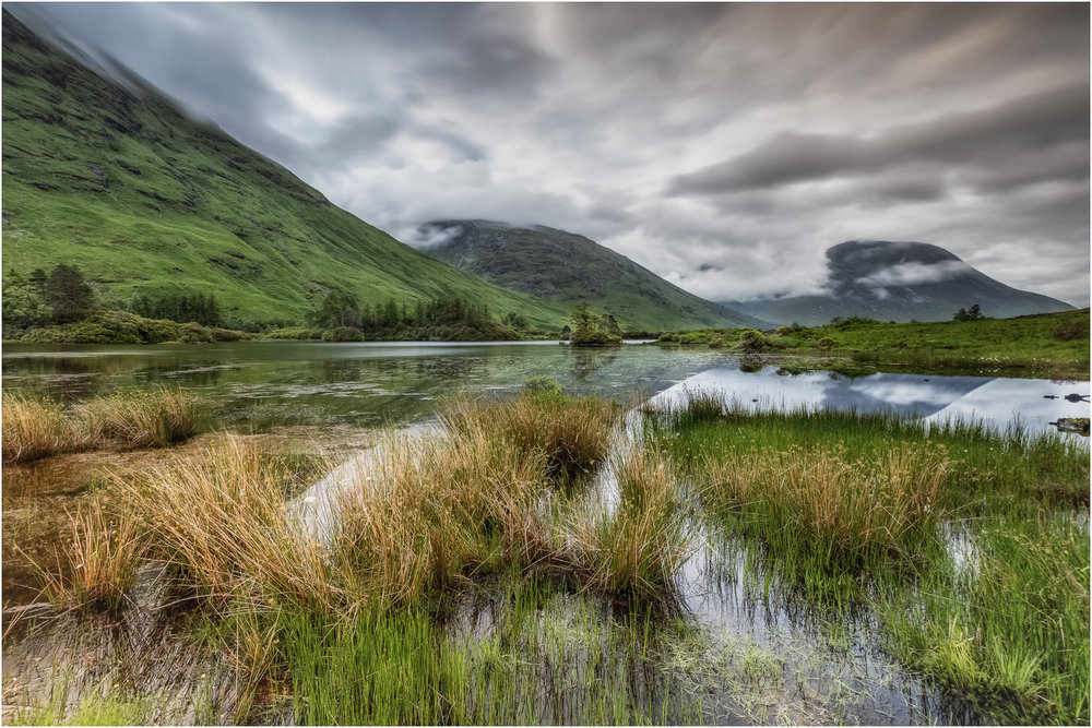 'Across the Loch'... A cloudy morning at Loch Etive...