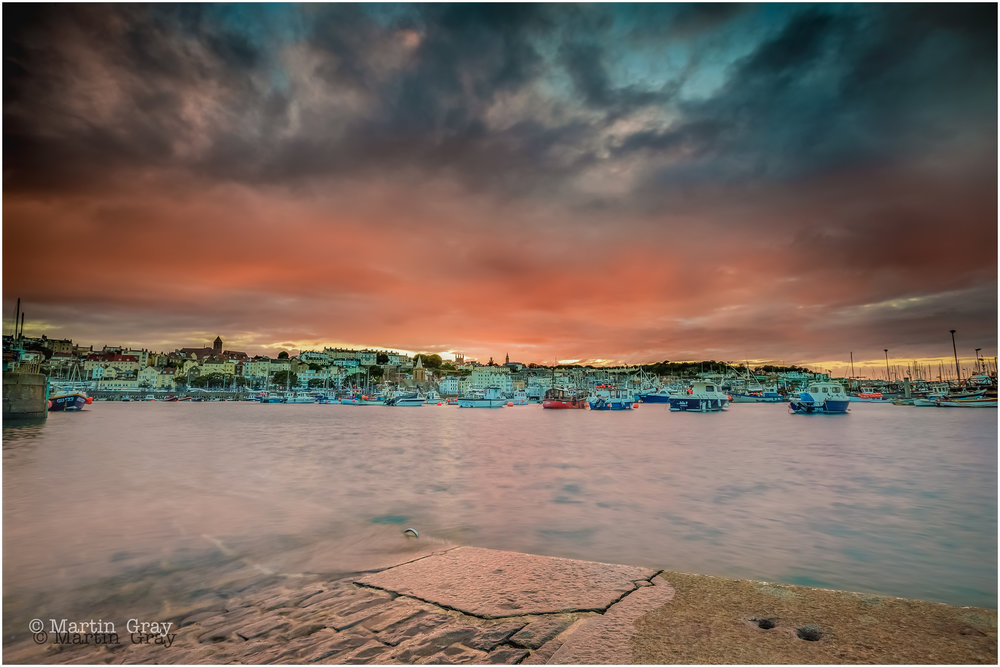 'Sunset across the Water'... Sunset at St Peter Port harbour... #LoveGuernsey