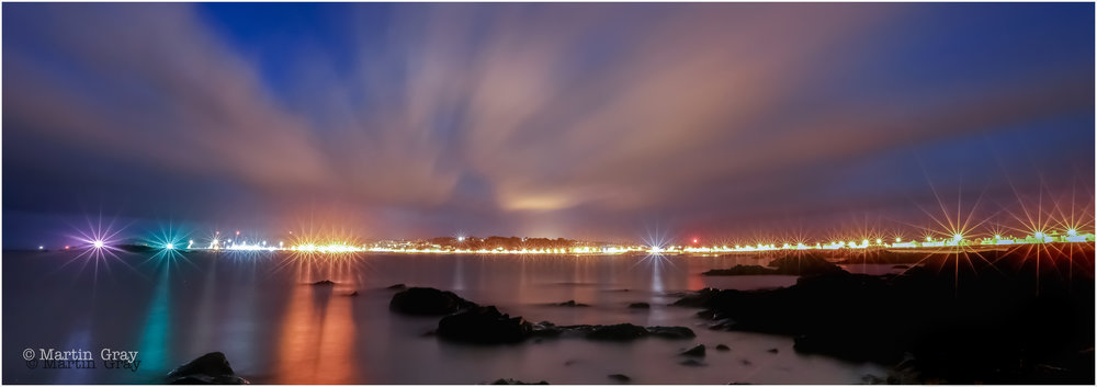 'Twinkle, Twinkle'... The Seafront toward St Peter Port from Spur Point...