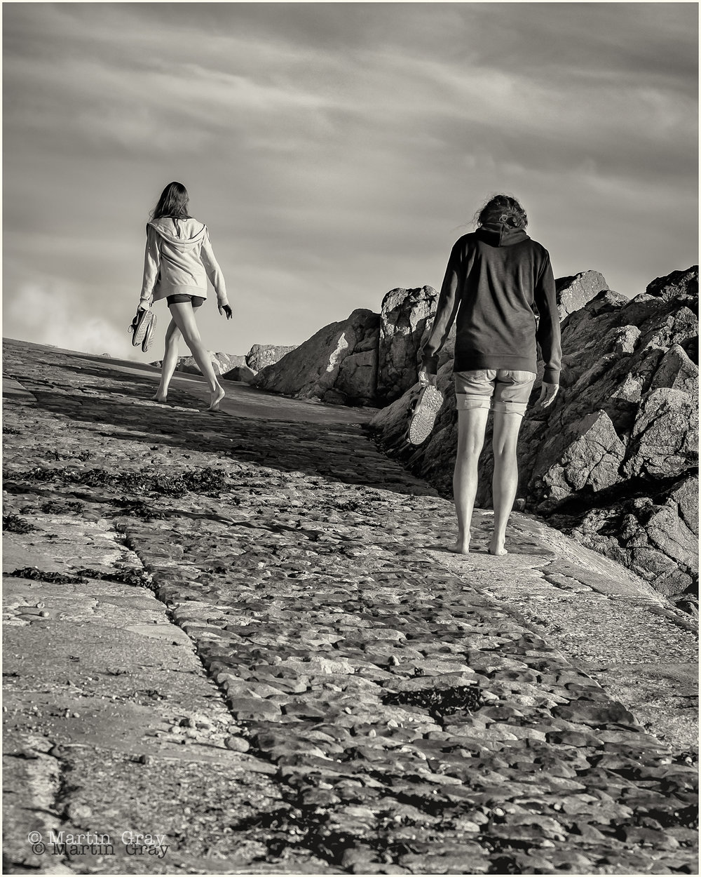 'Homeward Bound'... A slipway at Guernsey's L'Eree Bay...