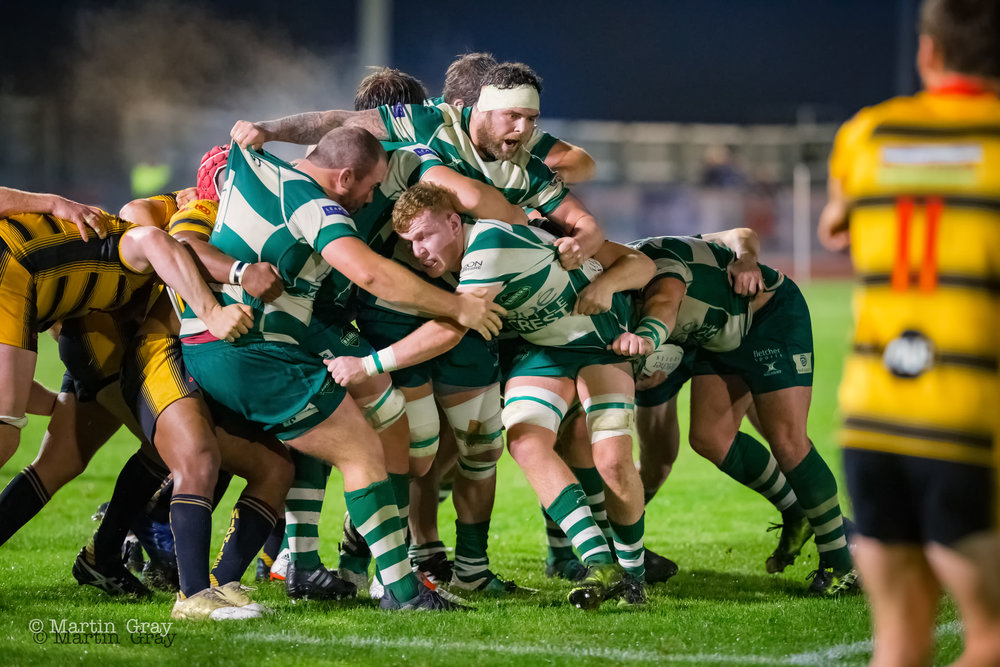 Guernsey Raiders v Birmingham & Solihull RFC in National 2 South action at Footes Lane 20th October 2018… Bees win 19-28