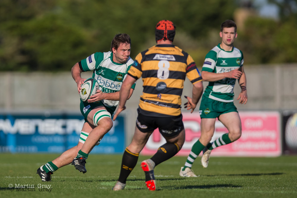 Guernsey Raiders v Canterbury RFC in National 2 South action at Footes Lanes on 3rd November 2018… Raiders lose a tight match 13-15…