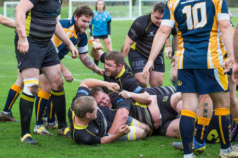 St Jacques Vikings v Midhurst RFC in Sussex League action 24th November 2018… Vikings win 54-6…