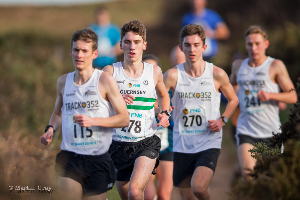 The 2018 Guernsey Athletic's Boxing Day Cross Country at L'Ancresse Common…. Won by Richard Bartram… Sarah Mercier is first Woman home in 3rd place…