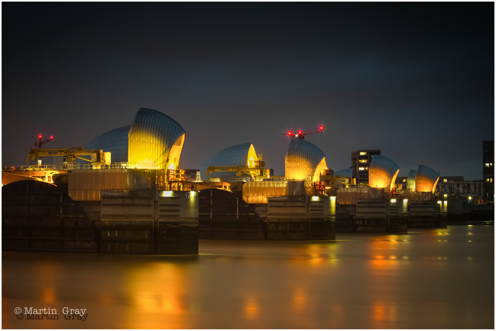 Calm Waters'… The Thames Barrier at night…