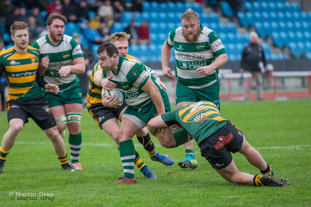 Guernsey Raiders v Bury St Edmunds RFC in National 2 South played at Footes Lane 5th January 2019… BSE win 19-27