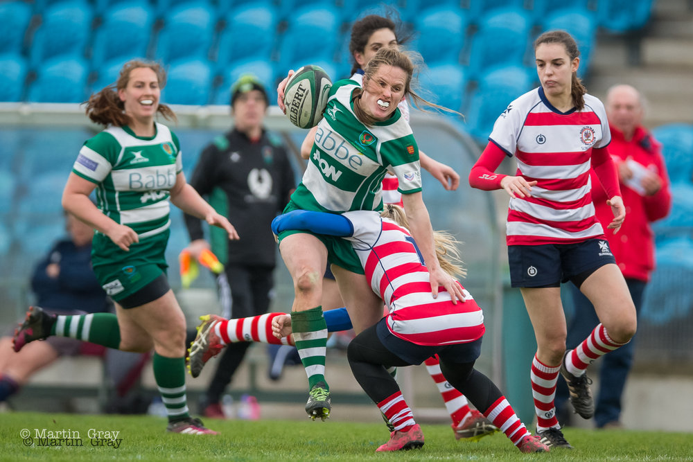 Guernsey Ladies v Rosslyn Park played 16th March at Footes Lane….. GLR winning 34-24