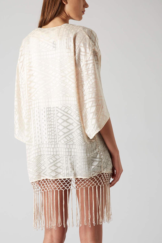 Kimono aztèque avec franges - Top Shop