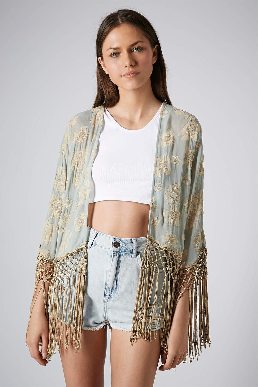 Kimono brodé - Top Shop