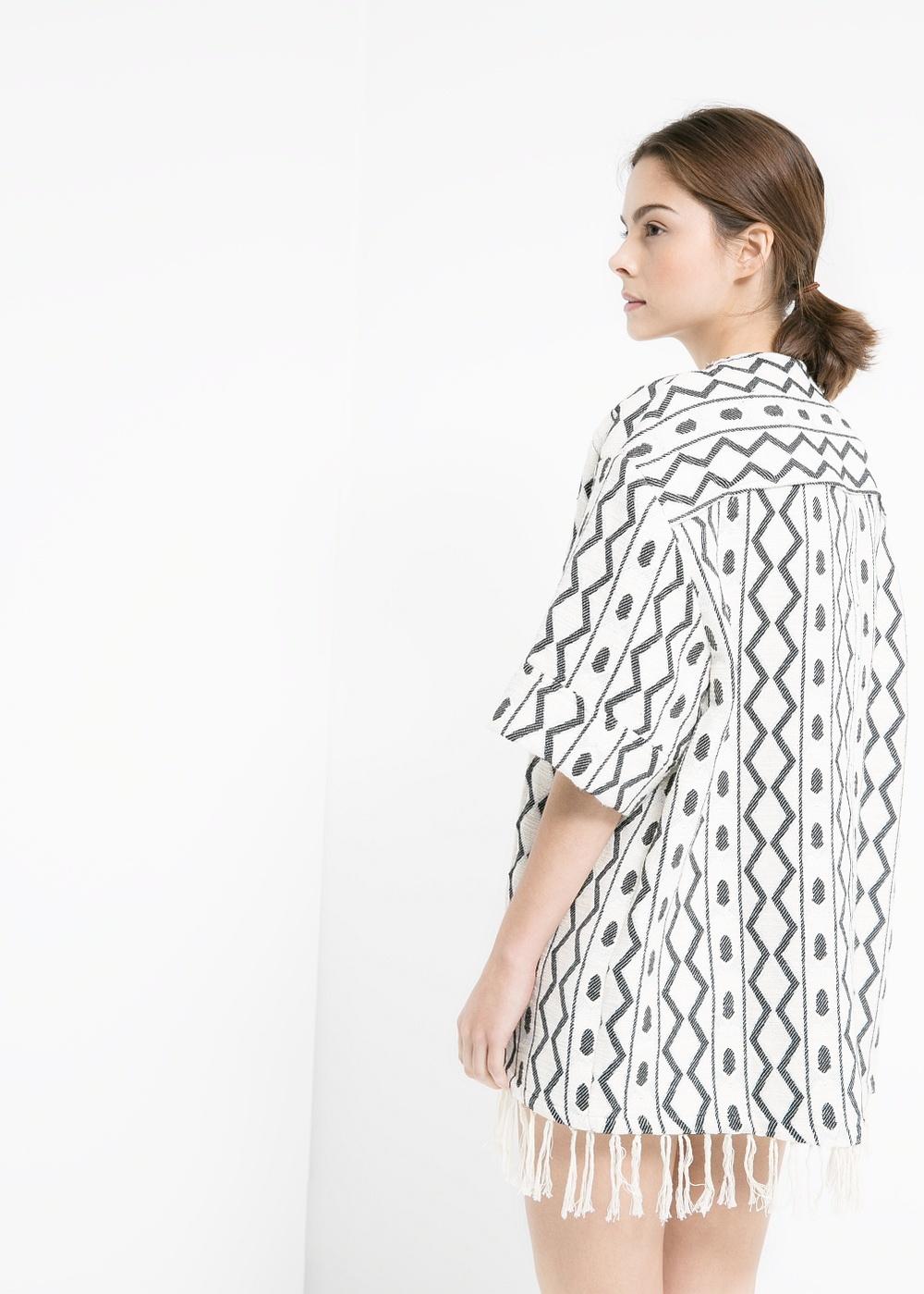 Kimono jacquard ethnique - Mango