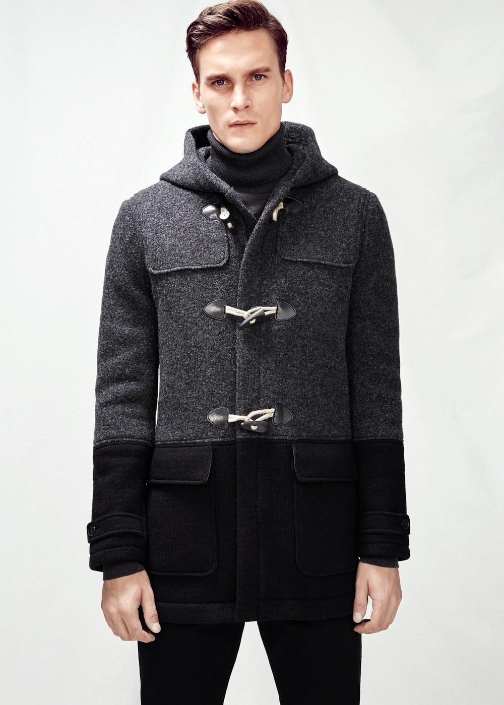Duffle-coat en laine contraste Mango He 139€