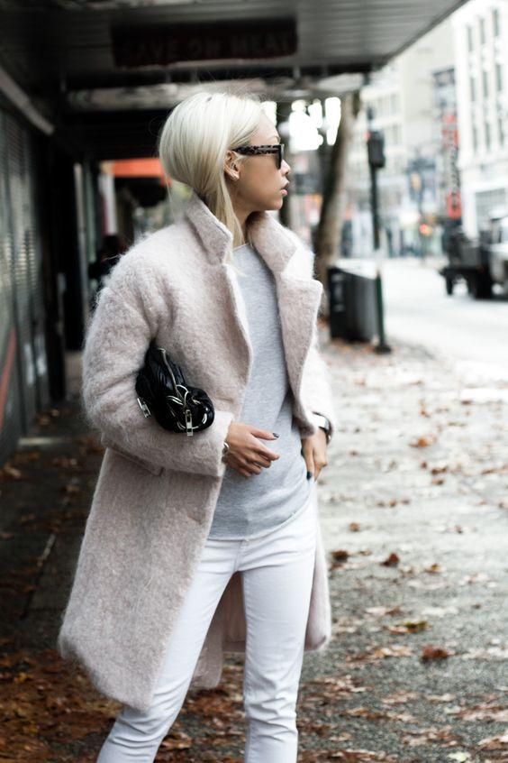 Steet Look Pink Coat