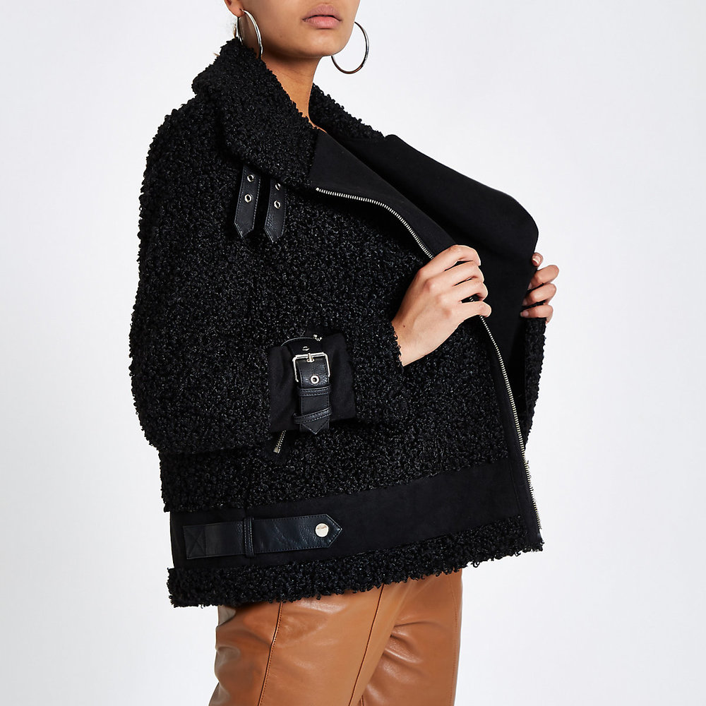 Teddy Coat Aviator River Island 100 €