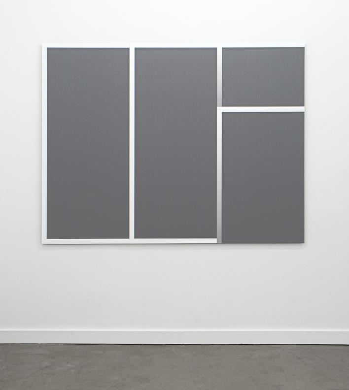 """Framed Gray Panel Work 01, 2011  Inkjet print on backlit film on four panels mounted on dibond 55"""" x 72"""""""