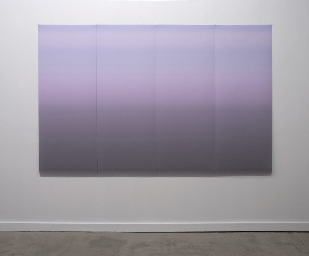 "Gradient 106 2011  inkjet print on backlit film four panels of 62""x96"""
