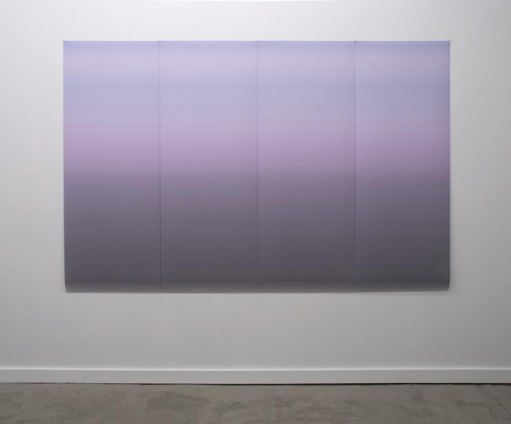 "Gradient 106 2011  inkjet print on backlit film four panels of 62""x96"""