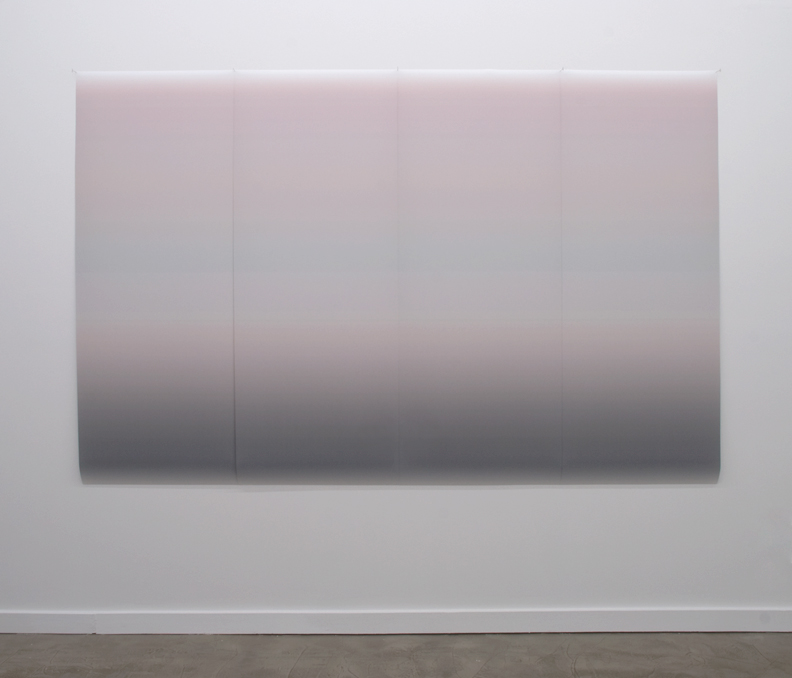 "Gradient 103  inkjet print on backlit film four panels of 24""x62"""