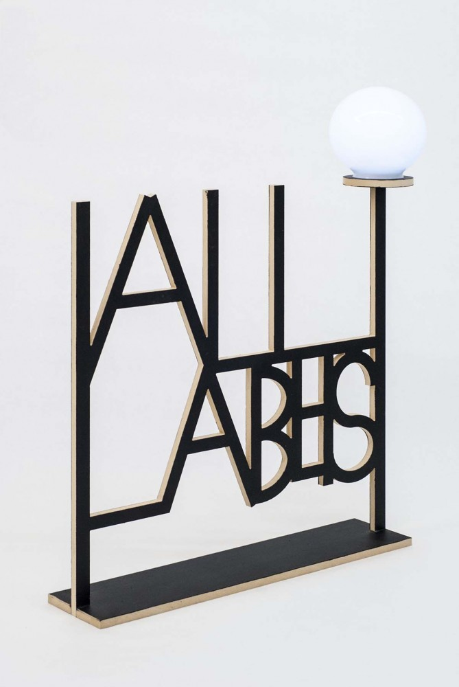 All Labels,  Edition of 5,  MED-X, battery powered led light fixture. 6 inch Polycarbonate Globe, 24 x 24 x 5 in, 2014