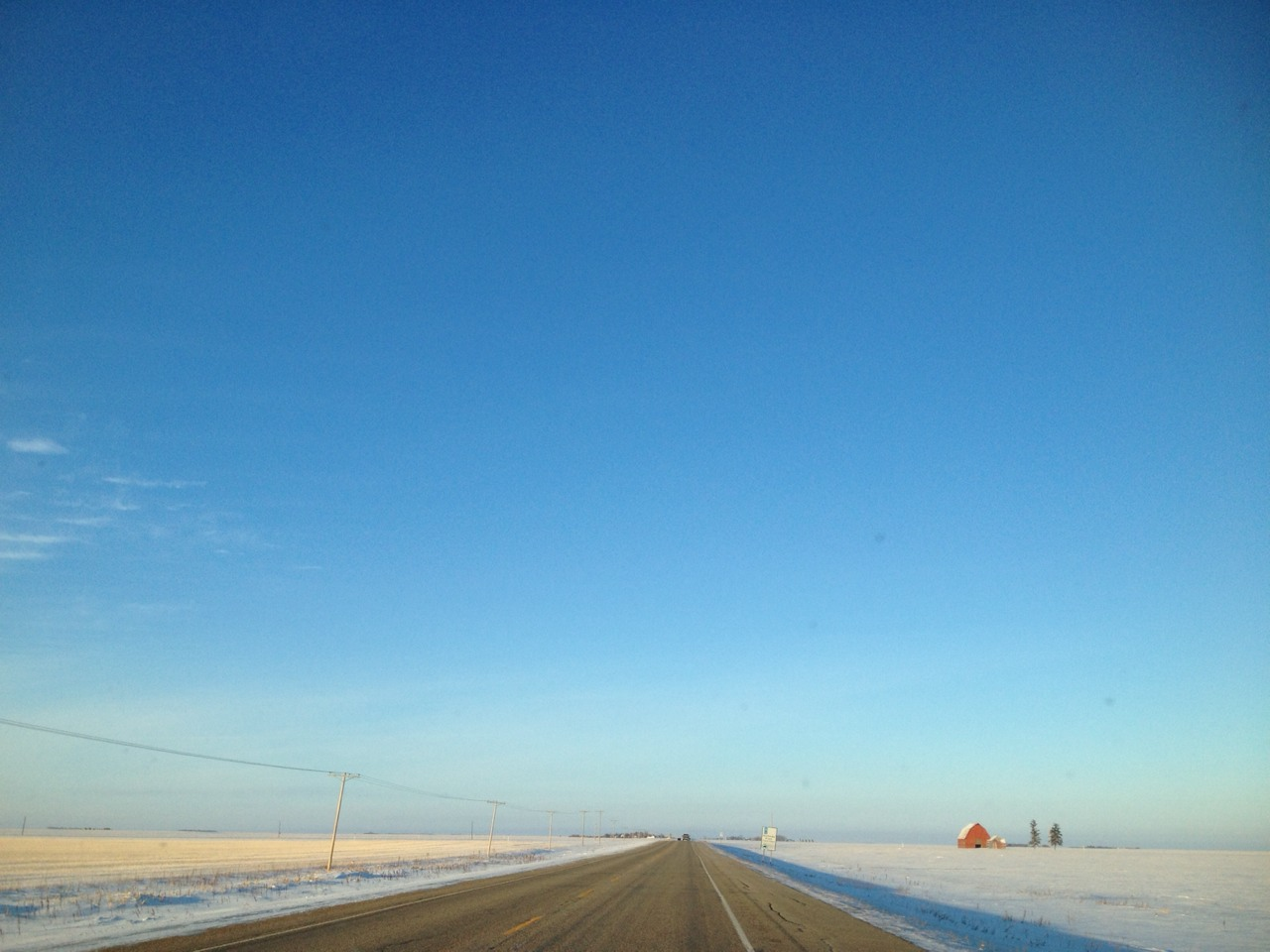 Beautiful and cold, the prairie in winter.