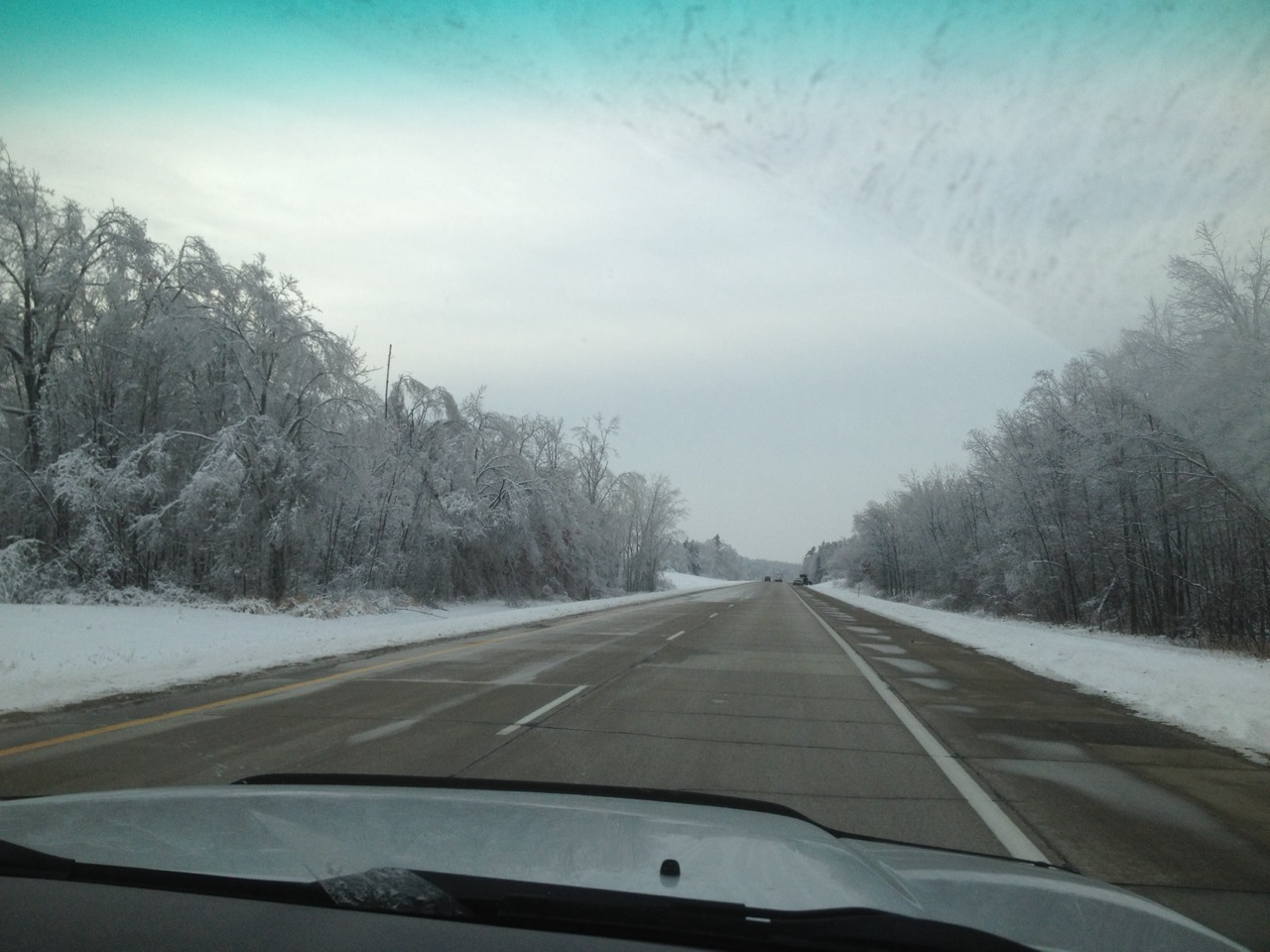 We drove through ice-encrusted Michigan on day one of our journey from Ontario to the Yukon.