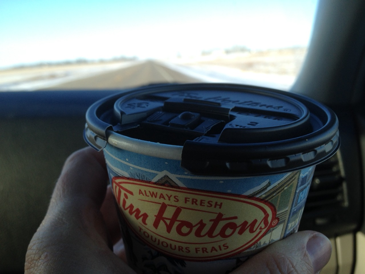 Nothing makes you want a Tim Hortons coffee more than not being able to have one. This double double tasted of home.