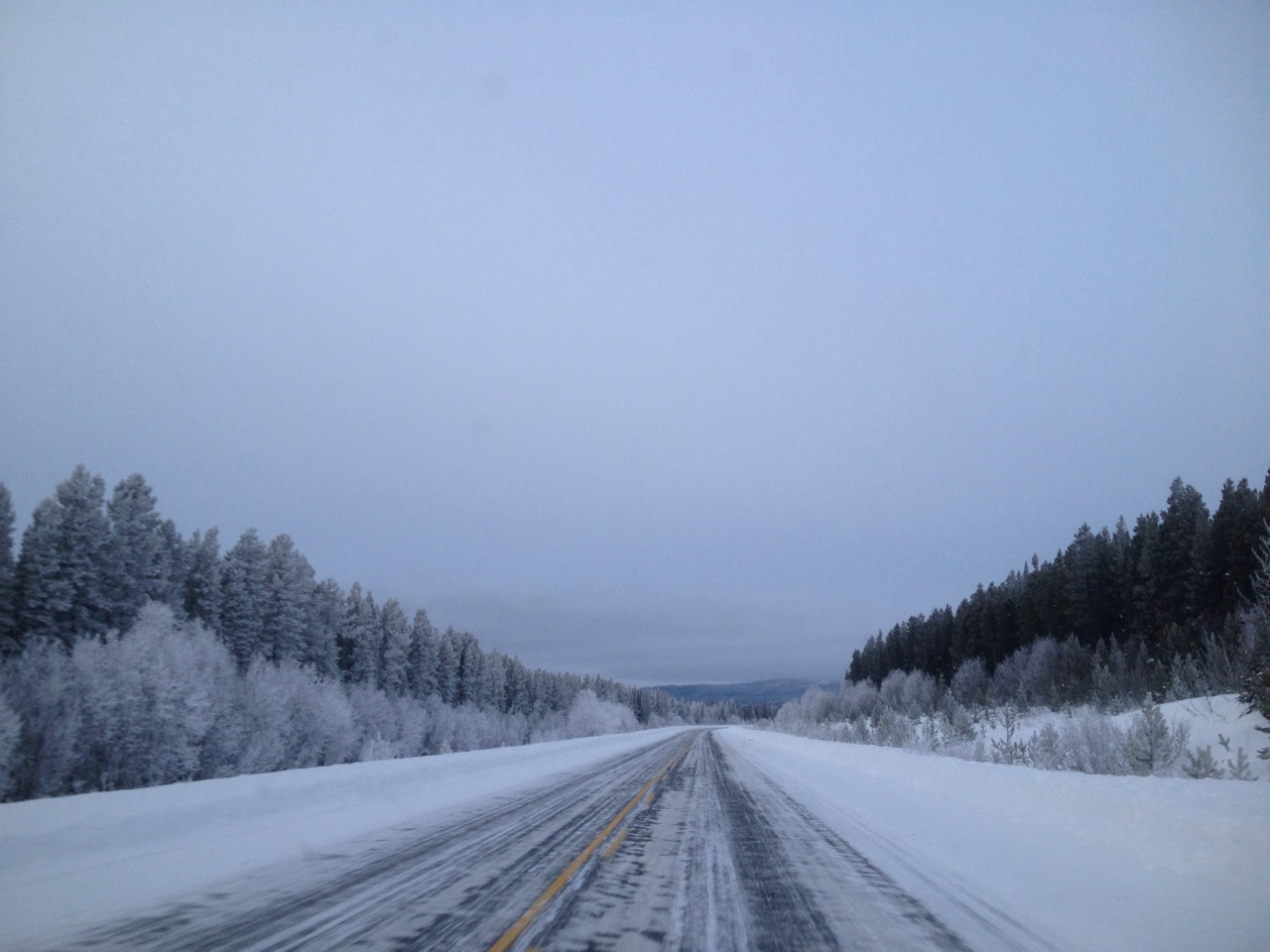 The road to Whitehorse.