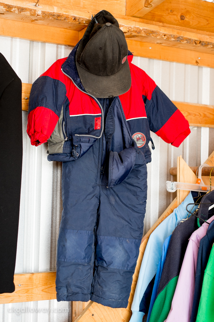 A child's snowsuit