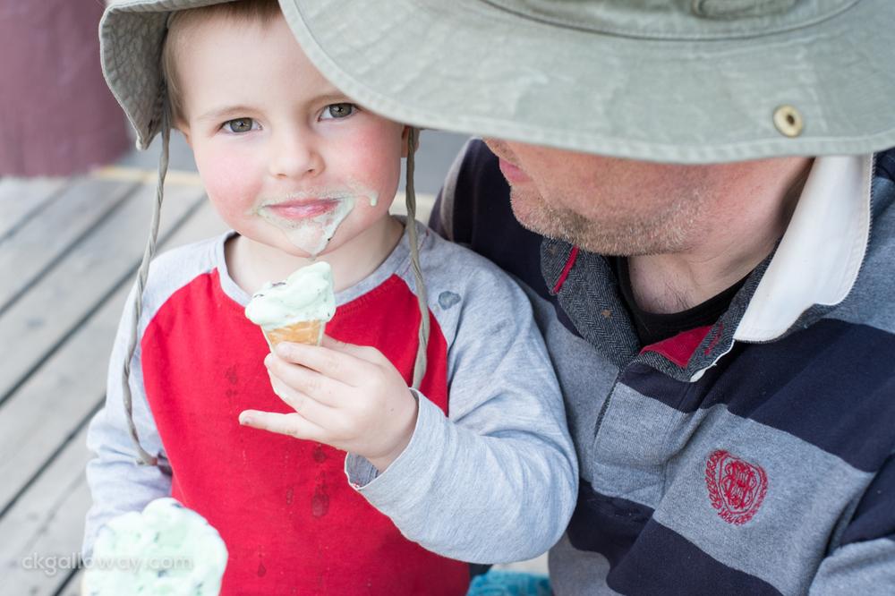 Ozzie eating ice cream