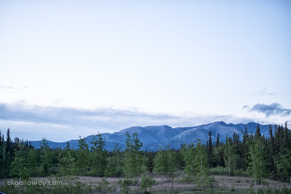 12:25am on June 21 2014 near Whitehorse, Yukon.
