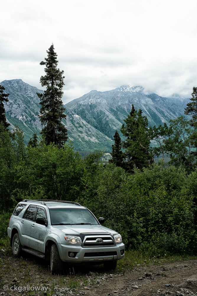 Fi, our 4Runner, on the track to Red Ridge. Photo by Christa Galloway.