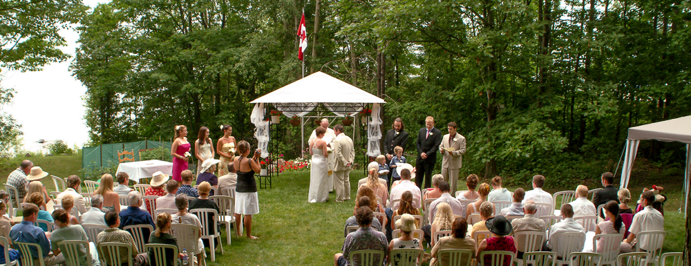 Our wedding ceremony.  Photo by Simon Furlong, friend and photographer.