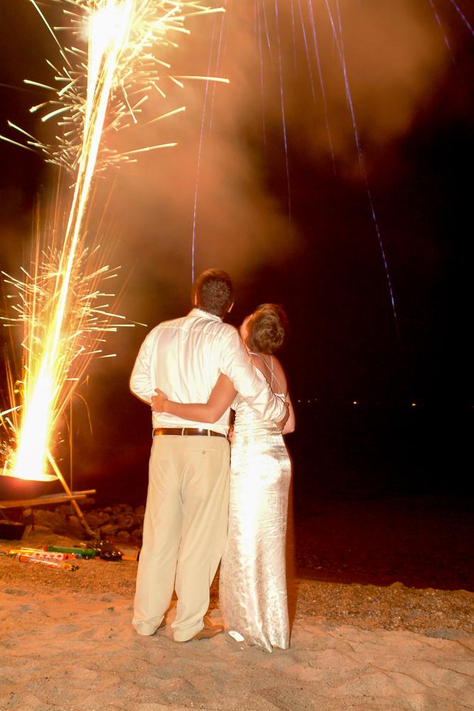 Post-wedding fireworks on the beach.  Photo by Simon Furlong.