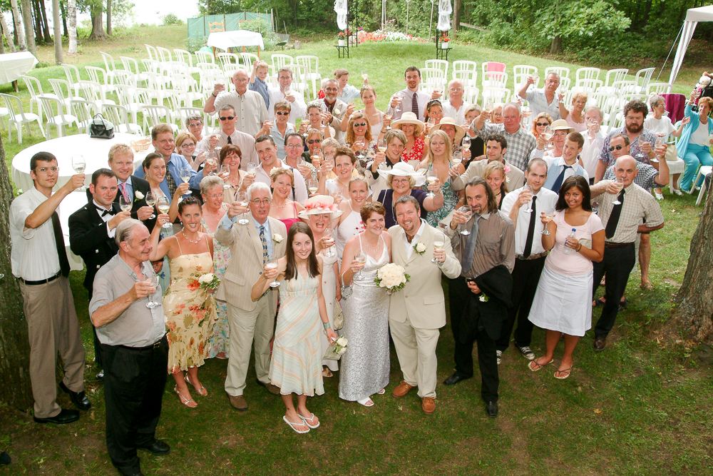 Our wedding day. Photo by Simon Furlong.