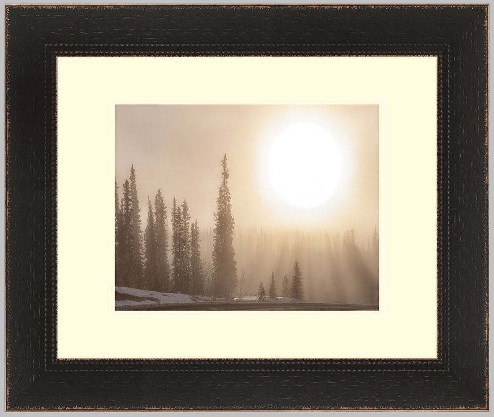 "Klondike Highway, 16"" X 20"" print in a weathered frame. $240"