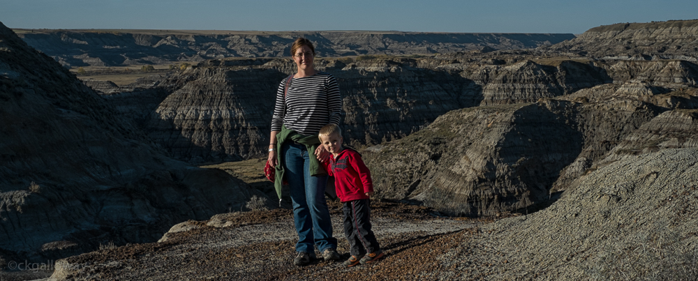 Oscar and I at the end of our adventure at Horsethief Canyon near Drumheller, Alberta.  Photo by Richard Galloway.