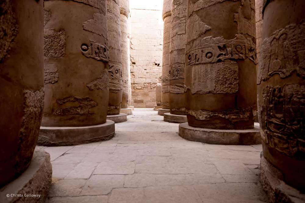 The  Karnak Temple Complex in Luxor, Egypt.