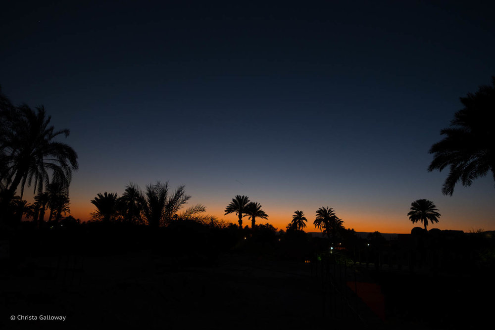 Sunset on the West Bank of Luxor.