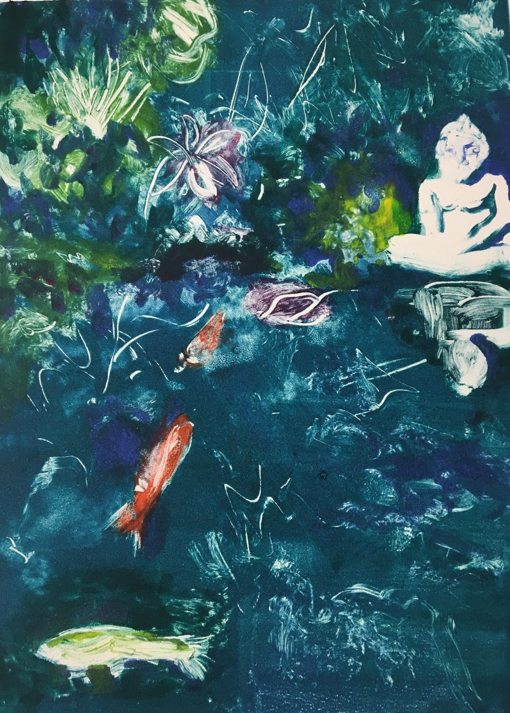 "New ""Selby Gardens Monotype Series ""Koi Pond"""
