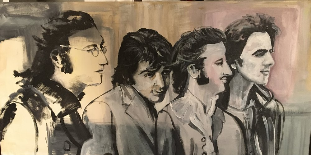 """The Beatles"" 18x36 Acrylic"