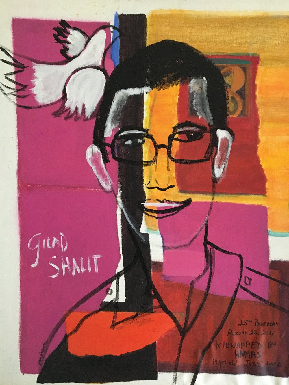 """Happy Birthday, Gilad"" 30x24 Acrylic"