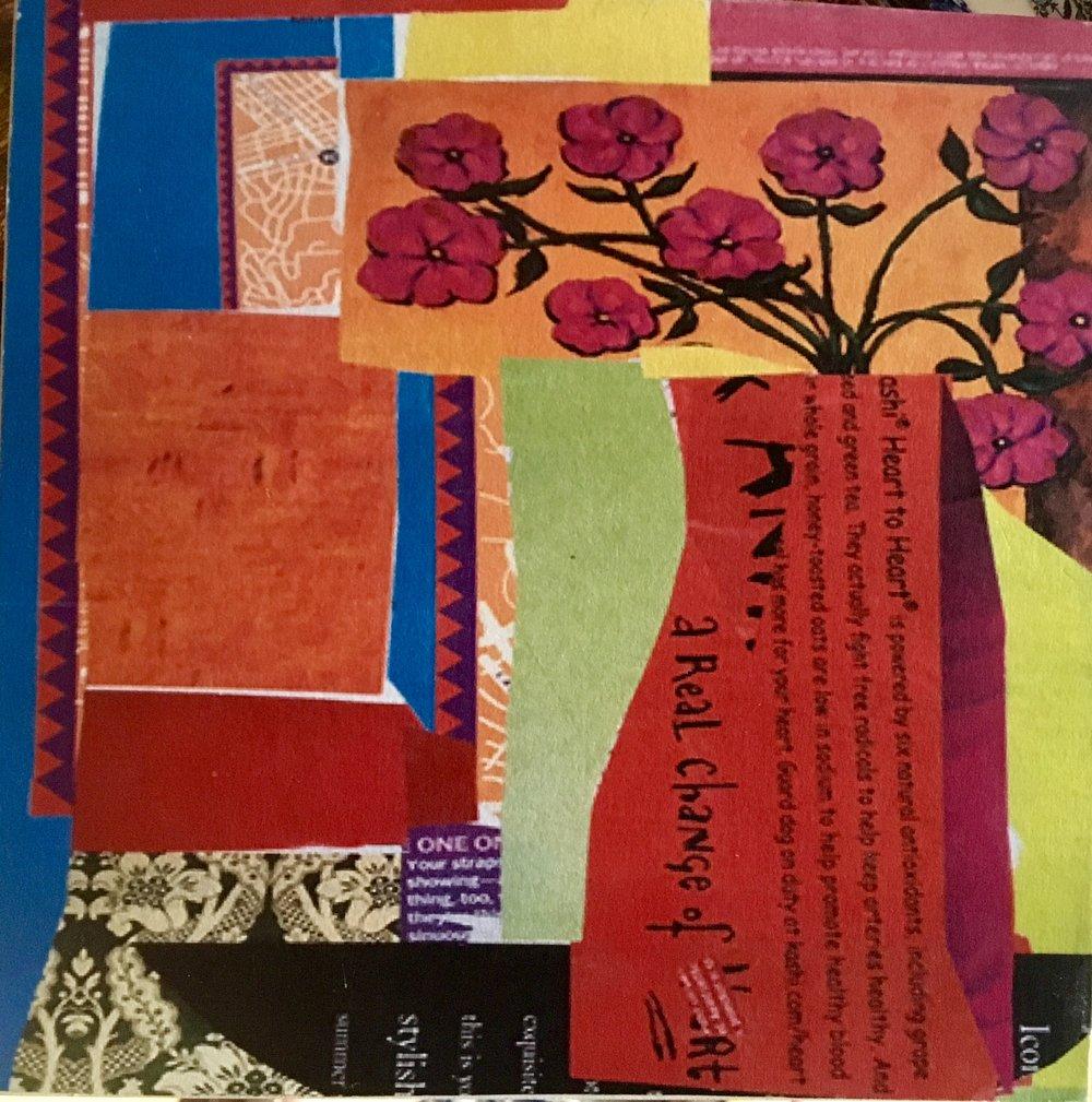 """Red Vase"" Collage 10x8"""