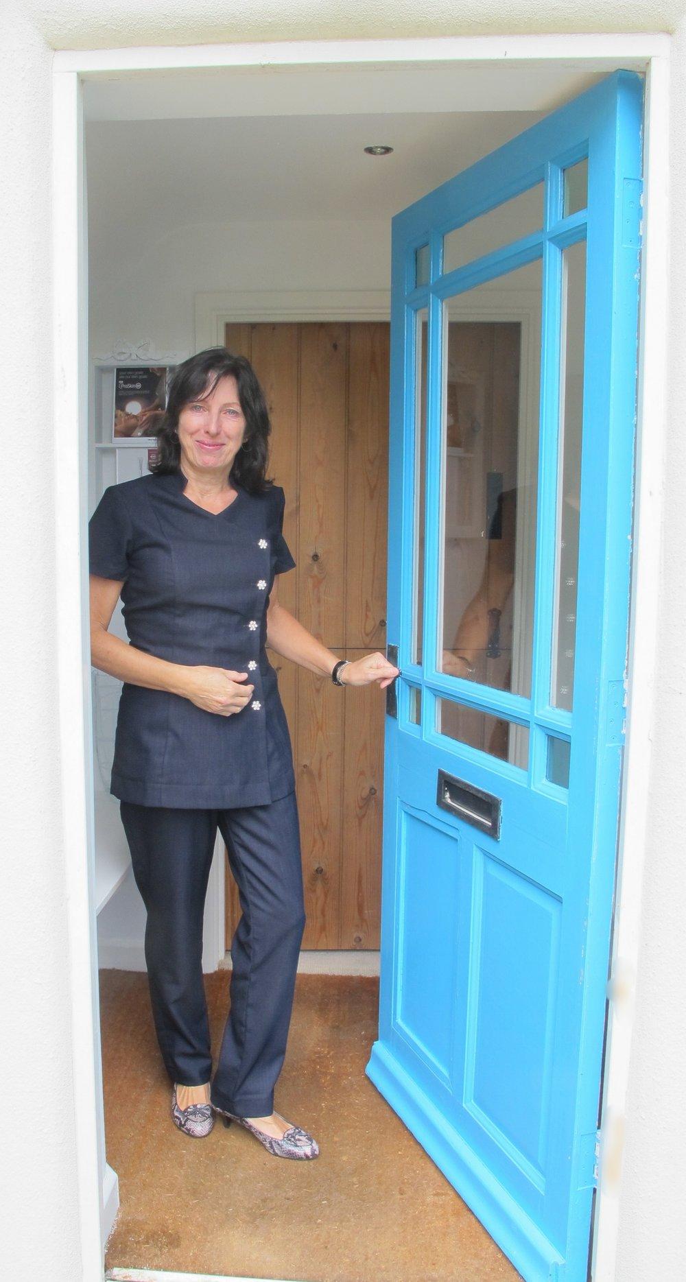 Sue-at-Cottage-Sanctuary-Door-3