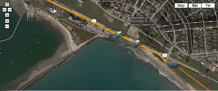 Race was routed back onto the CA Coastal Trail just south of Pillar Point Harbor.