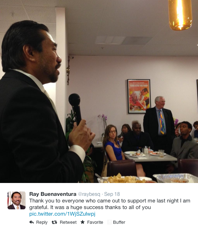 Ray Buenaventura fundraiser tweet WIll Holsinger Harbor District