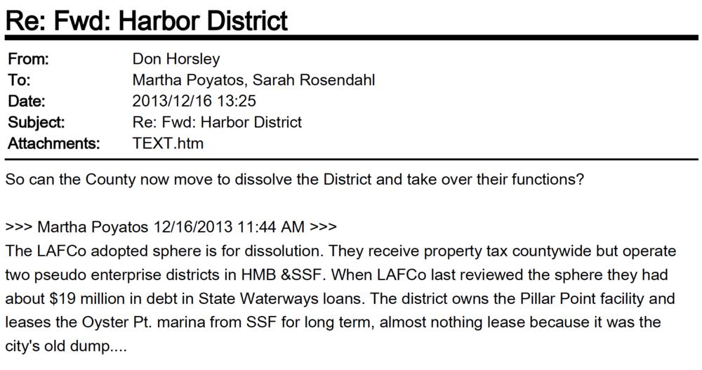 Don Horsley LAFCO San Mateo County Harbor District