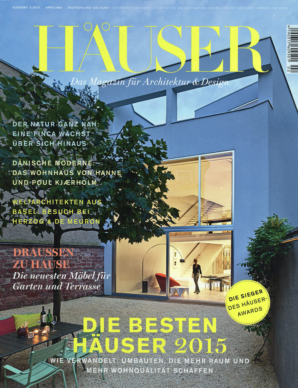 Rs29 featured in häuser magazin the best houses 2015 1st prize recipient