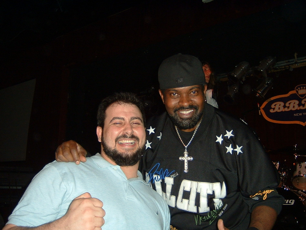 Mikey Jr. & Ric Hall after Buddy Guy's Show at B.B. King's in NYC April 2007.jpg