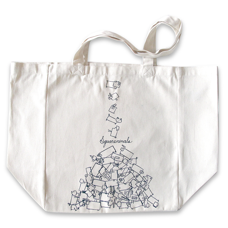 bde595b9b Organic Tote Bag : Natural · Organic Toddler Tee : Squarenimals Spill