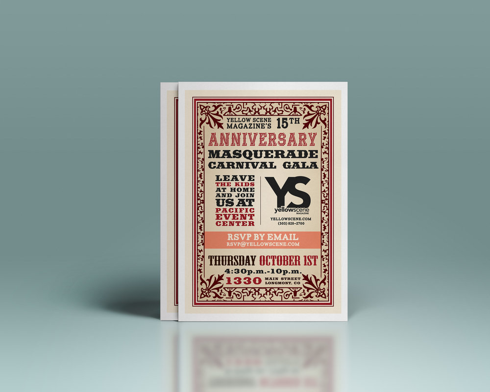 Yellow Scene Anniversary Party Invitation